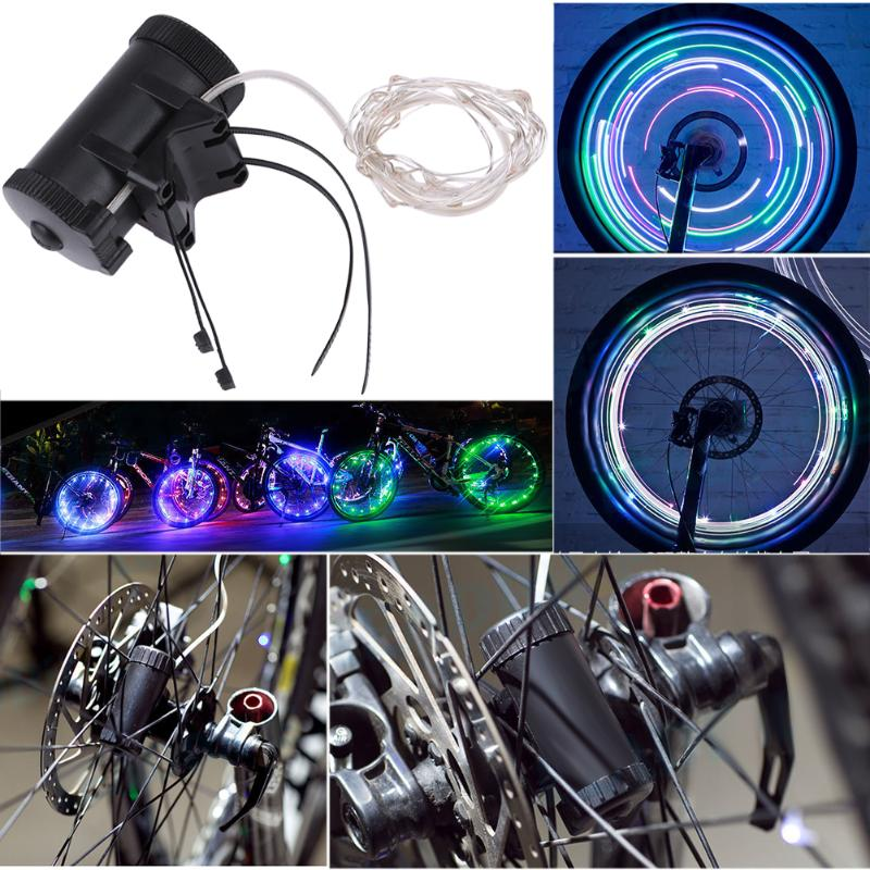 20 LED lights Motorcycle Cycling Bicycle Bike Wheel Signal Tire Spoke Light 30 Changes 3 Modes Bicycle Spoke Light