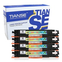 TIANSE CF350A Black+Colorful Toner Cartridge Compatible for HP Color Laserjet Pro MFP M176N/177FW Easy to Add Powder (Non OEM)