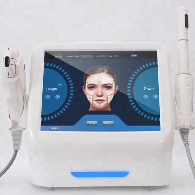 Mais recente tecnologia 2 em 1 hifu máquina de aperto vaginal + endurecimento da pele máquina de levantamento de cara