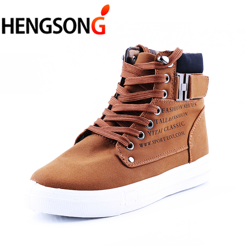 HENGSONG Men's Vulcanize Shoes Spring Autumn Shoes Warm Men Shoes Tenis Masculino Male Men's Vulcanize Shoes Botas Men TR871485