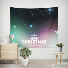Christmas Decoration Tapestry Wall Hanging Starry Sky Lighting Printed Tapestry Wall Fabric Art Boho Decor Living Room Wandkleed
