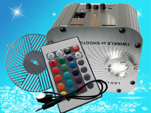 27w LED RGB fiber optic illuminator with 24key IR remote and running water wheel AC100 240V