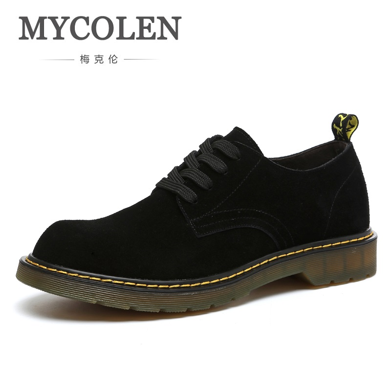 MYCOLEN 2018 New Spring Casual Men's Shoes High Quality Durable Shoes Comfortable Lace-Up Black British Style Men Shoes stylish spring autumn winter men shoes british style men s quality lace up work tooling shoes