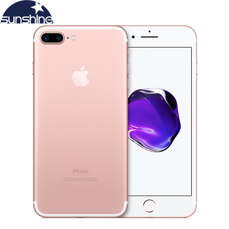 Desbloqueado Original Apple iPhone 7 Plus LTE teléfono móvil 5,5 12.0MP 3G RAM 32G/128G/256G ROM Quad Core huella dactilar teléfono inteligente