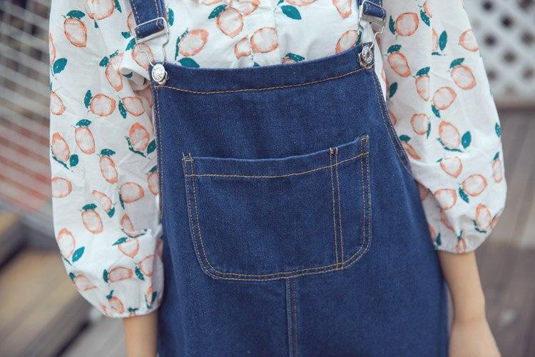 D'été Robes Jeans Dark Lâche Femmes Femme Green A187 Couleur Solide Denim Robe Bretelles Occasionnel Réglable Salopette Filles AOnZxdFwZq