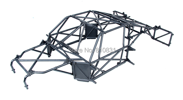 Plastic Rolling Roll Cage Frame for Losi 5ive-T QL-5T RC LOSB0019 1/5 Gas Truck Rovan LT KM-X2 DDT MINI WRC rear lower suspension arm for losi 5ive t ql 5t rc losb0019 1 5 gas truck rovan lt km x2 ddt mini wrc 59007