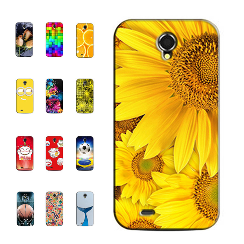 Printed Phone Cases for Lenovo S820 S 820 4.7 inch Original Back Cover Case Painting Shell Bag Skin Coque Capa