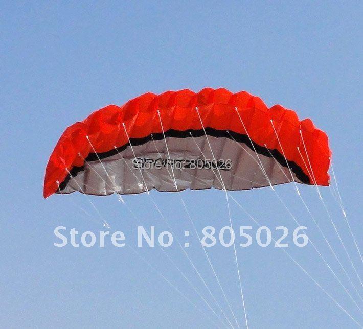 անվճար առաքում բարձրորակ 2.5 մ երկակի Line Stunt Sport փափուկ Kite հետ հսկիչ բար և գծի kitesurfing բացօթյա խաղալիքներ
