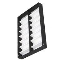 Kính hiển thị trường hợp 16 cặp hộp Lưu Trữ với có thể gập lại nắp cho kính mát kính hộp (Black + white)