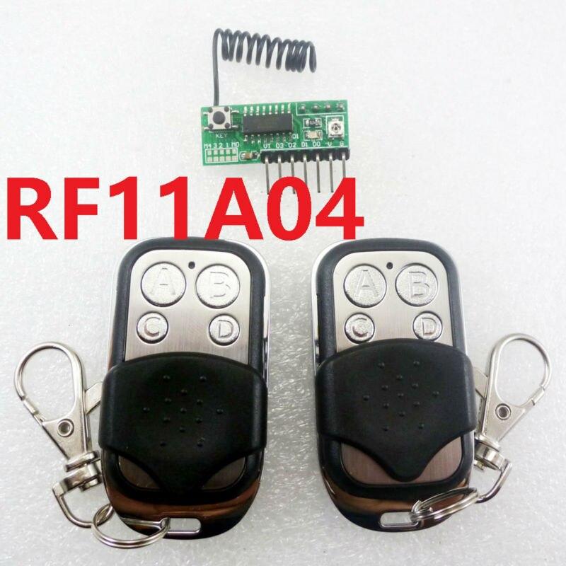 2x Ev1527 Learning Code Remote Control Amp 433m Rf Wireless