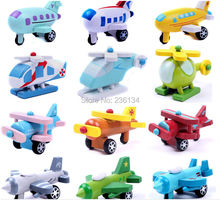 wholesale 240pcs Kids Toys wooden toys Mini Planes Model Airplane Robot toys for children Christmas Birthday Gift