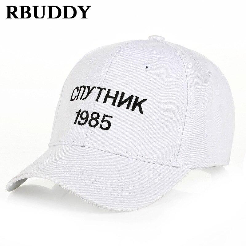 RBUDDY Satellite 1985   Baseball     Caps   Russia Letter Hip Pop Summer Snapback Trucker Dad Hat for Women Men Gift Youth Full Caps2018