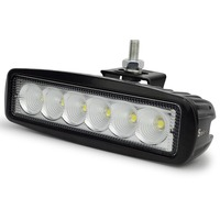1pcs 6 Inch 18W LED Work Light For Indicators Motorcycle Driving Offroad Boat Car Tractor Truck