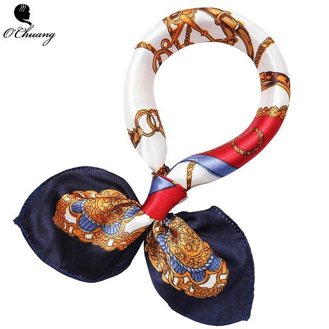 O Чжуан небольшой площади шарф для волос для женщин средства ухода за кожей Шеи официант в отеле стюардессы бизнес подражать бандана сумка из шелка шарфы для 50*50 см