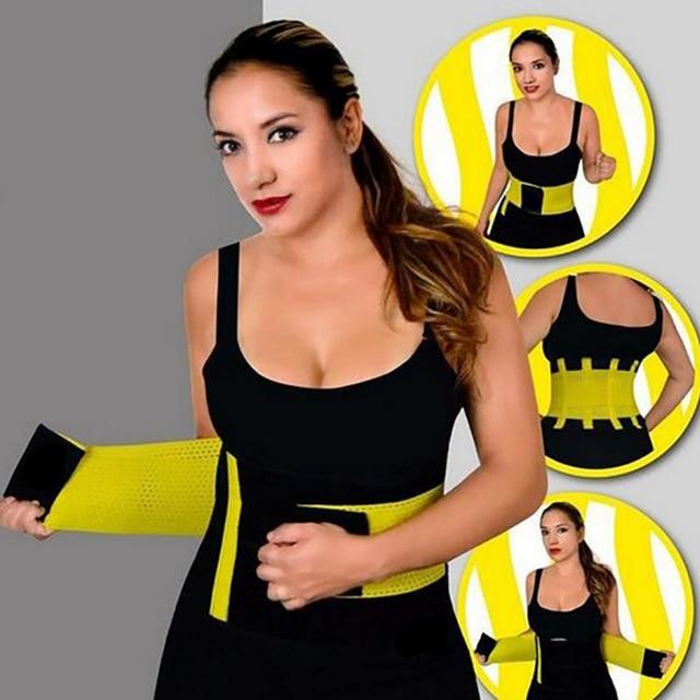 Lumbar Back Waist Support Brace Belt Waist Training Corset Back Fitness Women Waist Support Sweat Slim Belt 2019 1