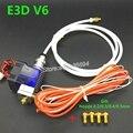 J-cabeça Hotend Impressora 3D com Ventilador para 1.75/3.0mm 12 v Wade Extrusora Filamento E3D bowden v6 0.2/0.3/0.4mm Bico + Vulcão kit