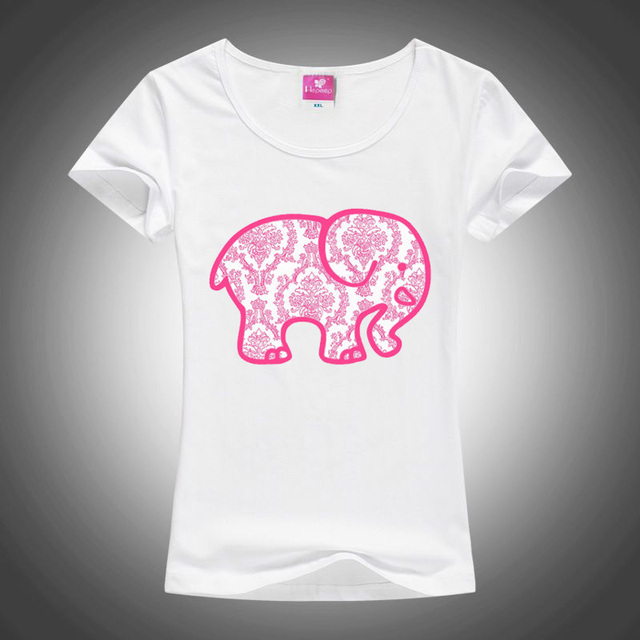 4055041a5172 2018 Hot Sale Design Women T Shirt Pink Elephant T-shirt Novelty Short  Sleeve Tee Normal People Scare Me Printed Shirts