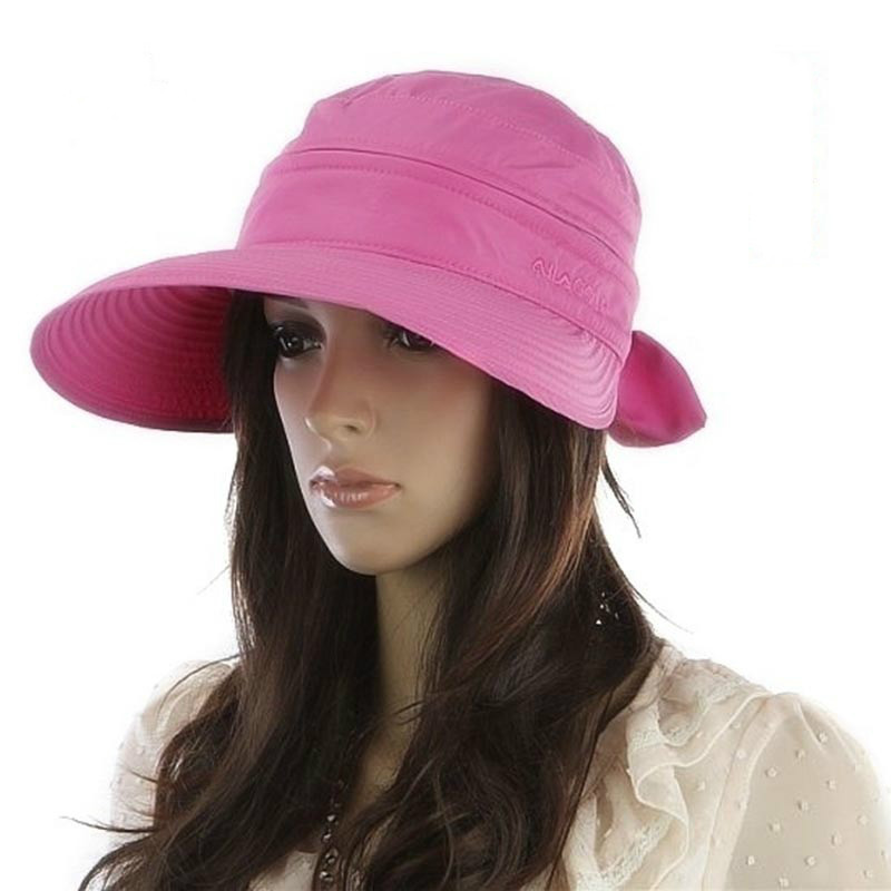 Women Summer Fashion Removable Sun Hat Trendy Simple Bowknot Big Visor Cap Beach Sun Hat New High Quality Hat