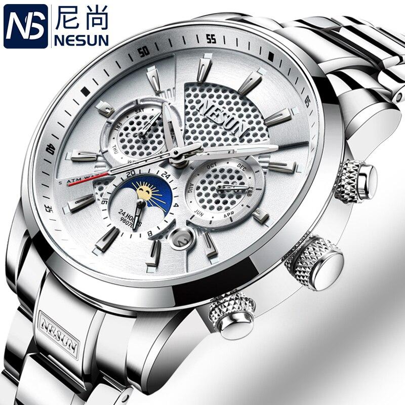 Switzerland NESUN Luxury Brand Watches Men Multifunctional Display Automatic Mechanical Watch Luminous Waterproof clock N9807-5 luxury brand 100 page 5