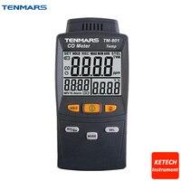TENMARS tm801 LED Подсветка Угарный газ тестер co детектор