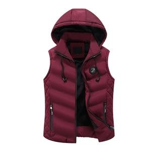 Image 5 - Mwxsdฤดูหนาวผู้ชายเสื้อกล้ามชายเสื้อแจ็คเก็ตผ้าฝ้ายชายซิปWaistcoatสำหรับฤดูใบไม้ร่วงชายGilet Homme