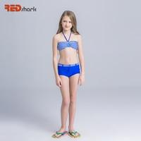 REDshark 2017 Profesjonalny Strój Kąpielowy Dwuczęściowy strój kąpielowy Dla Dzieci Dziewczyny Bikini Set Śliczne Dzieci Plaża Stroje Kąpielowe Dziecko Pływać Garnitury