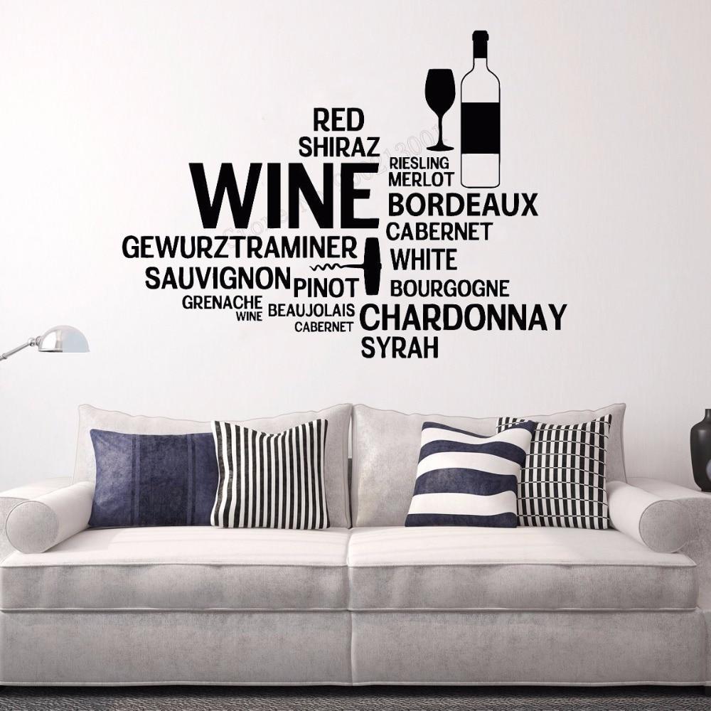 Wall Stickers custom colour Coffee /& Wine what happen vinyl decal decor Nursery