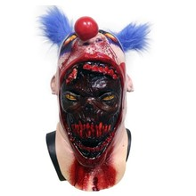 Scary Coulrophobia Bloody Gory Clown Zombie Skin Serial Killer Halloween Mask мачете zombie killer