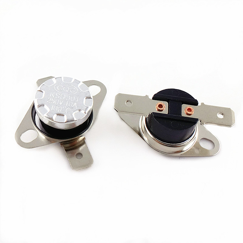цена на KSD301 250V 10A Normally Closed NC Thermostat Temperature Thermal Control Switch DegC 20 25 30 35 40 45 50 55 60 65 70 75 80 85