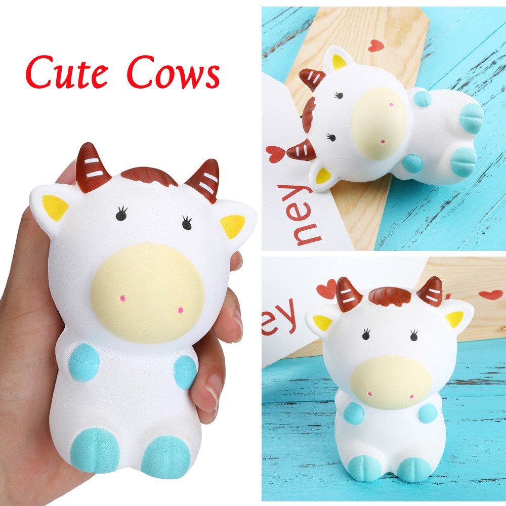 Squishies Jumbo Yummy Cattle Cake Slow Rising Squeeze Stress Reliever Charm Toy Stress Relief ToyToy Squishy Slow Rising W619
