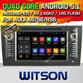 WITSON Android 5.1 Quad Core CAR DVD PLAYER for AUDI A6  AUDI S6 AUDI RS6 1997-2004 GPS+1024X600+DVR/WIFI/3G+DSP+RDS+16GB flash