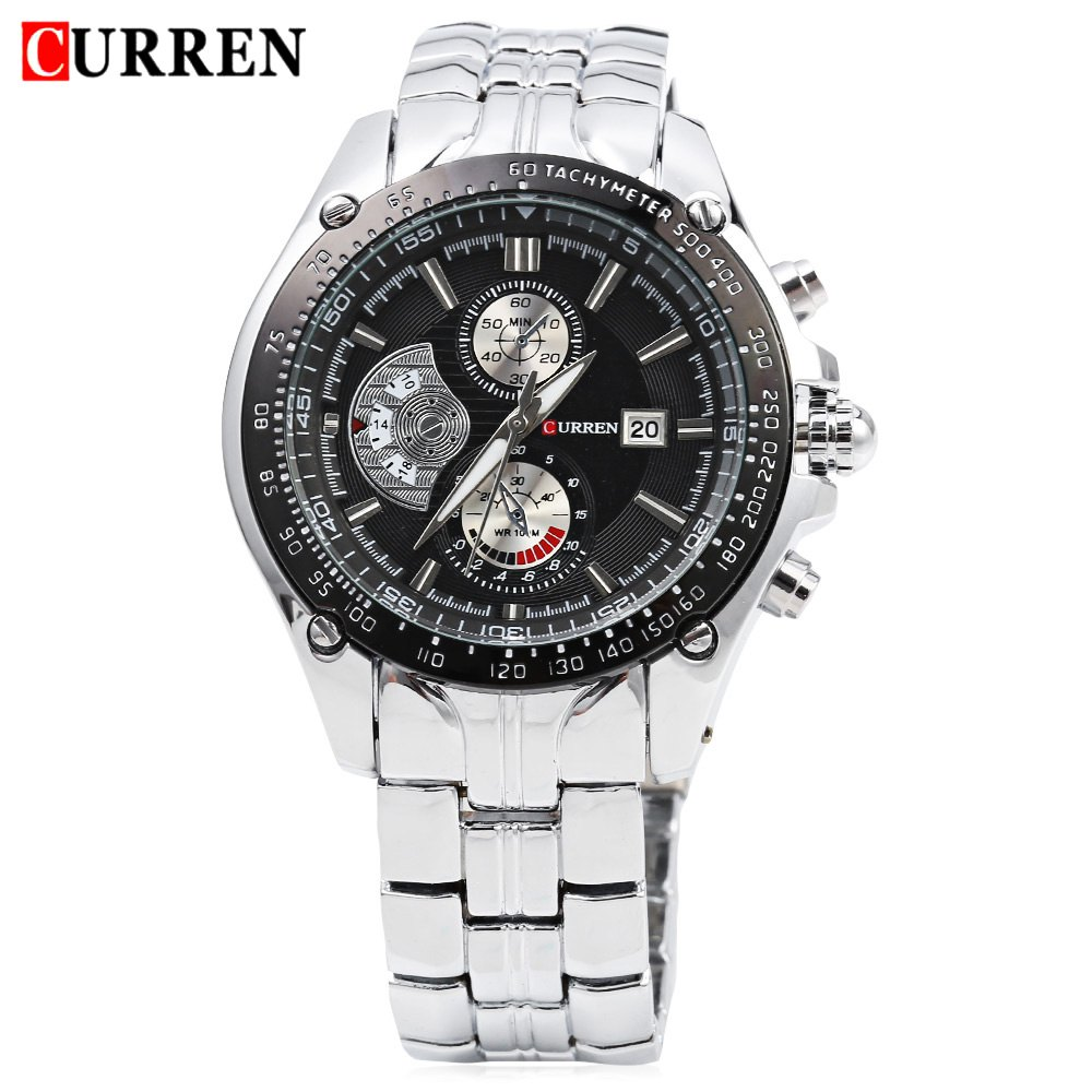 2016 new curren 8083 watches men luxury brand military men watch full steel wristwatches fashion for Curren watches