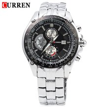 2016 Новый Curren 8083 Часы Мужчины Luxury Brand Военные Часы Полная Сталь Наручные Часы Мода Водонепроницаемый Relogio Masculino