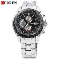 2016 New Curren 8083 Watches Men Luxury Brand Military Men Watch Full Steel Wristwatches Fashion Waterproof