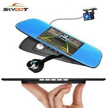 Sale SKydot 5.0 Inch Car Cam Dvr 1080P Rearview Mirror Dual Lens Dash Camera Night Vision G-Sensor Auto Video Recorder Camcorder