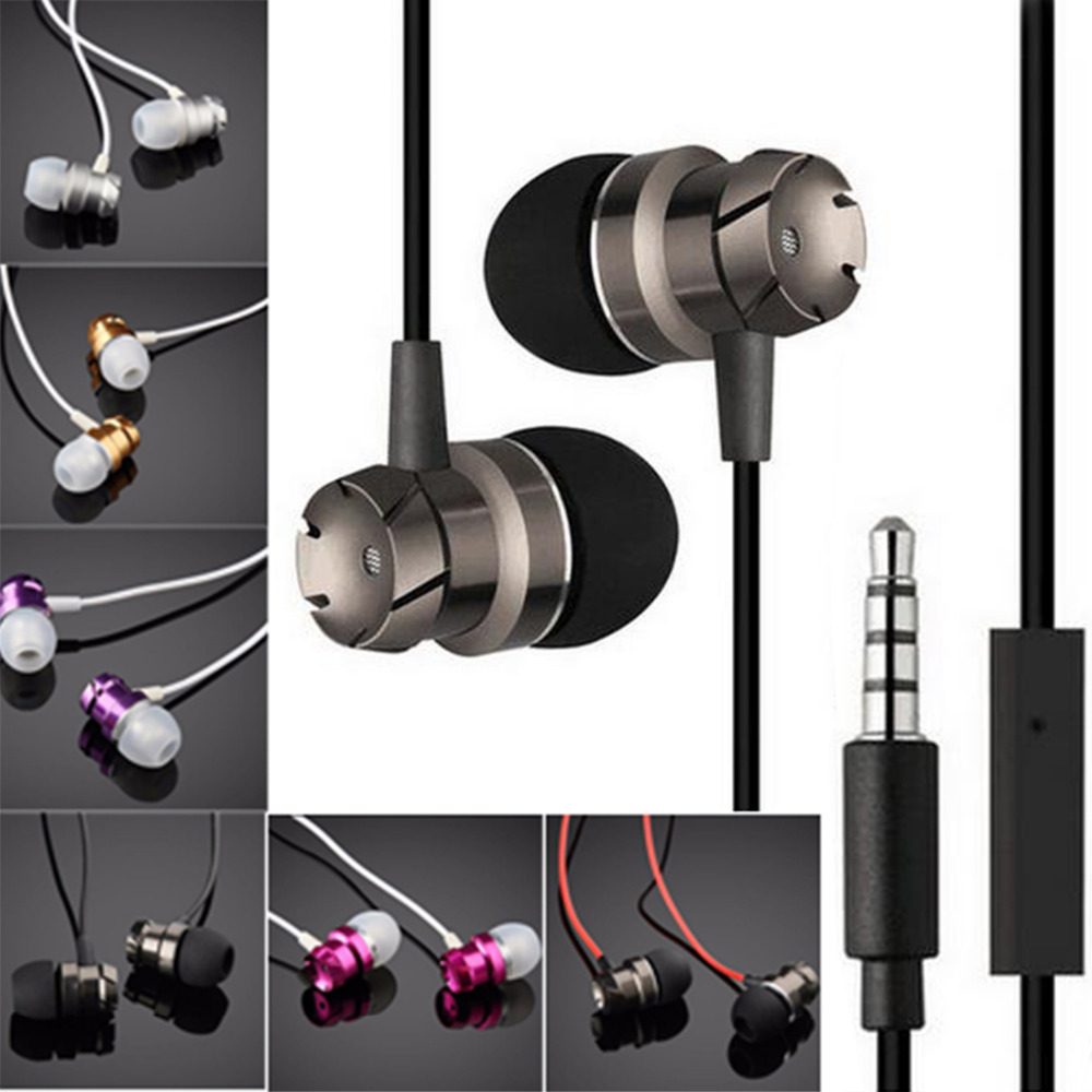 Marsnaska Metal In Ear Earphones Wired in-ear 3.5mm Wired Headset Earphone with Microphone Universal for Computer Mobile Phone mobaks hxt 2045 novel zipper style universal 3 5mm jack wired in ear headset w microphone blue