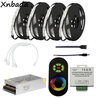 DC12V 2835SMD 234Leds/m RGB Led Strip Light With Led RGB Strip RF Controller Power Transformer Kit 5M 10M 15M 20M