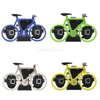 Creative Flip Clock Bicycle Shaped Clock Table Alarm Travel Clock Home Decorative