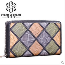 mengzhongmeng new crocodile women Purse lady real crocodile leather long purse lady purse lady s zipper