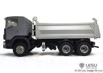 LESU 1/14 6x6 Metal Hydraulic Dumper RC Sca Truck Model ESC Servo DIY Tmy TH02022