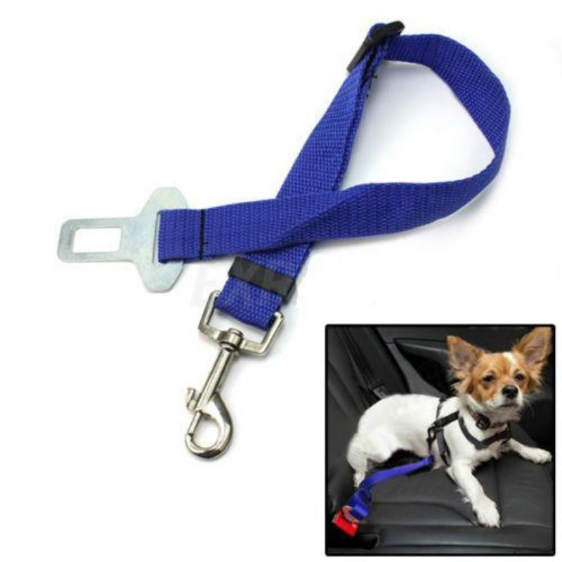 Blue Car Vehicle Auto Seat Safety Safe Belt Seatbelt Harness Restraint Buckle Adjustable Travel for Dog Pet Cat Car Accessories