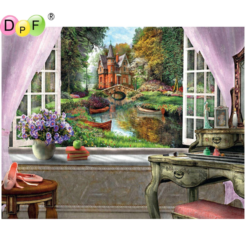 Painting Supplies New-dpf Diy Bicycle Flower 5d Square Diamond Painting Cross Stitch Crafts Diamond Embroidery Wall Painting Home Decor Modern Design Painting Canvas