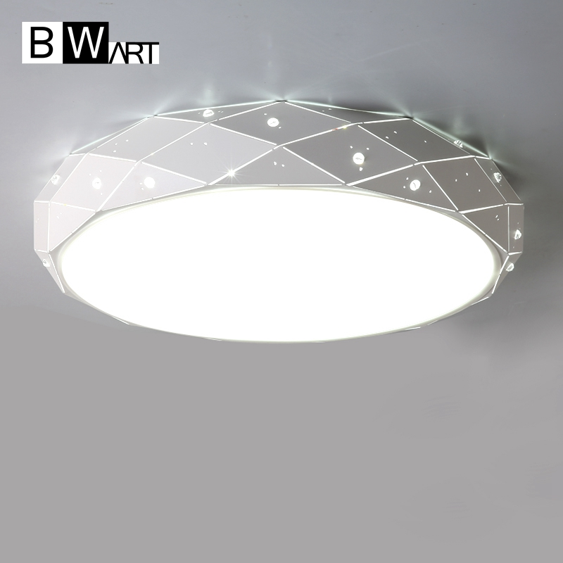hot sell Bwart Modern Circular Creative Ceiling Light Simple Acrylic Lamp For Home Living room Bedroom Restaurant With LED Bulbs 2017 new modern and simple circular led ceiling lamp black color restaurant bedroom living room balcony light free shipping