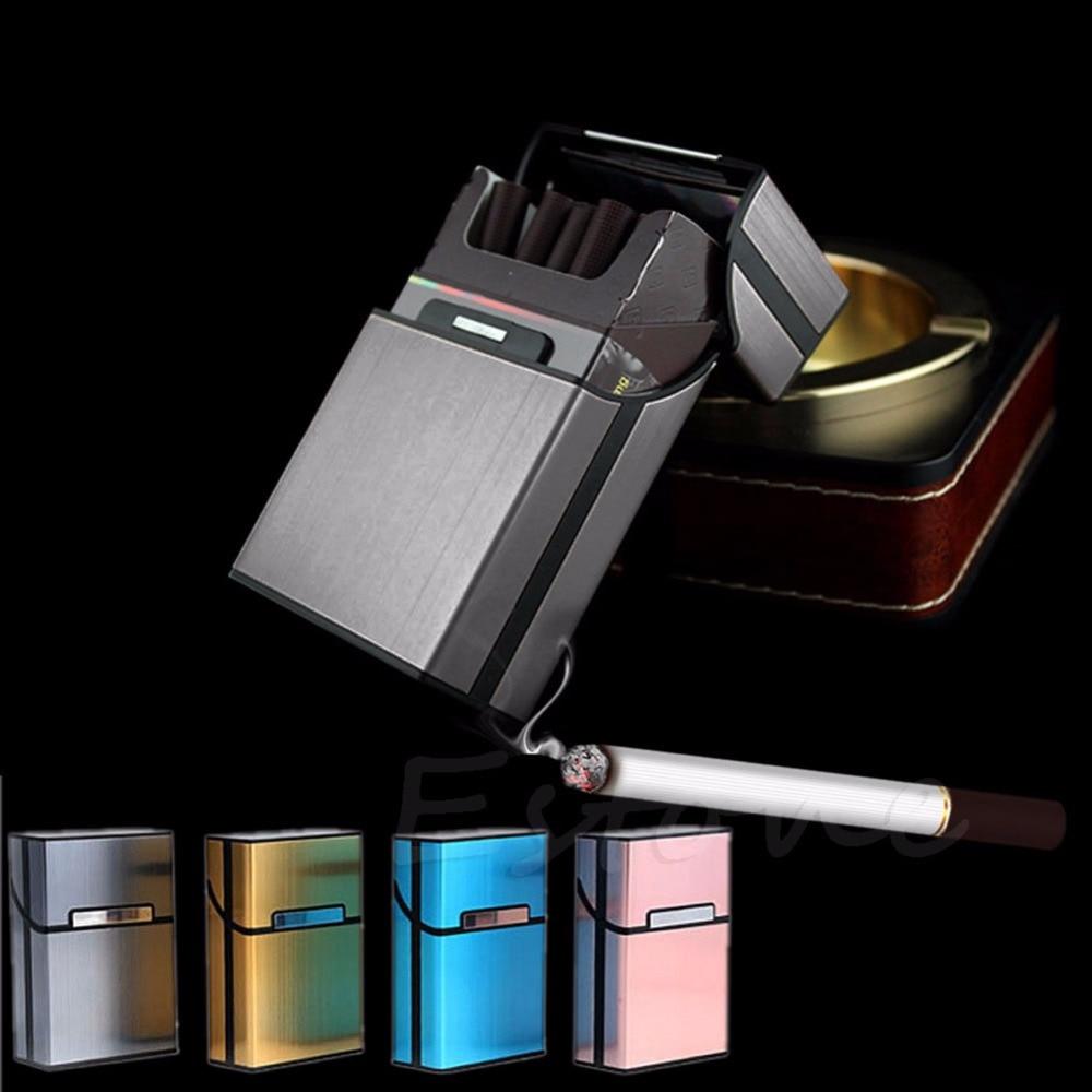 Black Light Aluminum Cigarette Cigar Pocket Box Holder Container Storage Case|Cigarette Accessories|   - AliExpress