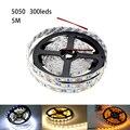 Frete Grátis Fita LED Luz de Tira 5050 SMD 60 Leds Luz Branca Vermelha Verde Azul amarelo RGB LED Tira 14.4 W/m DC 12 V Com CE RoHS