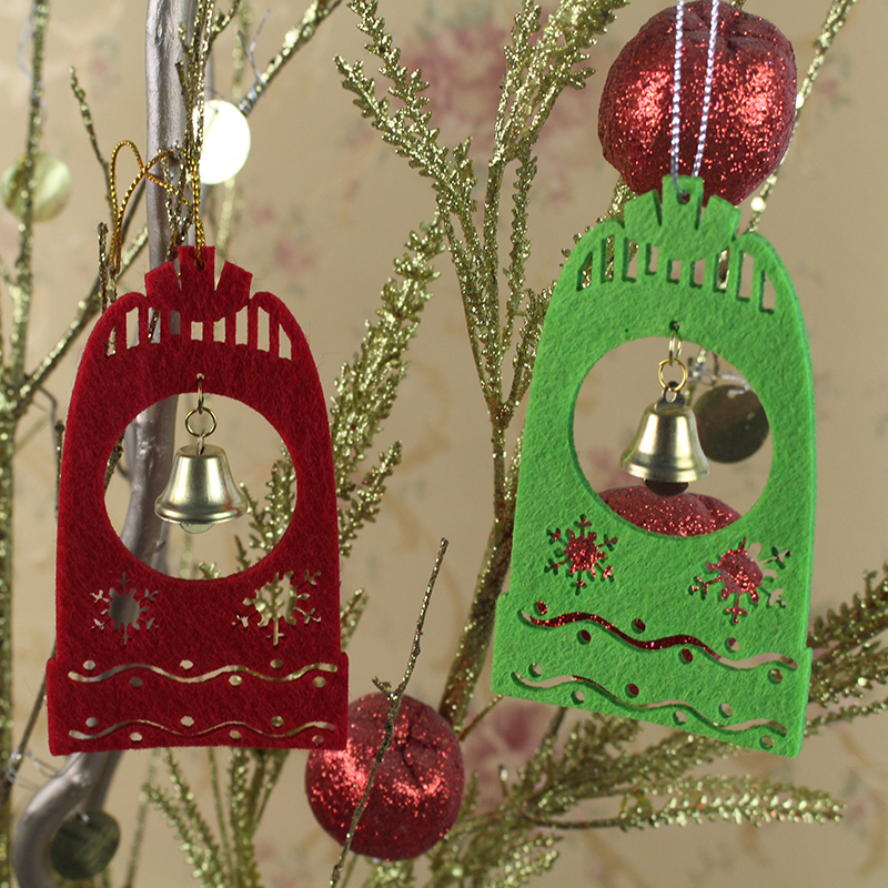 16pcs/pack Christmas tree decoration raindeer snow flakes angel bells new year garden ornament holiday gifts hanging home decor