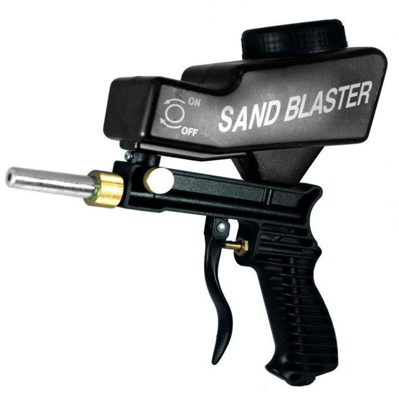 Gravity Feed Pneumático Portátil Abrasivo Areia Blaster Blaster Gun Com Spare Dica Hand Held Jateamento Gun Negro Cor