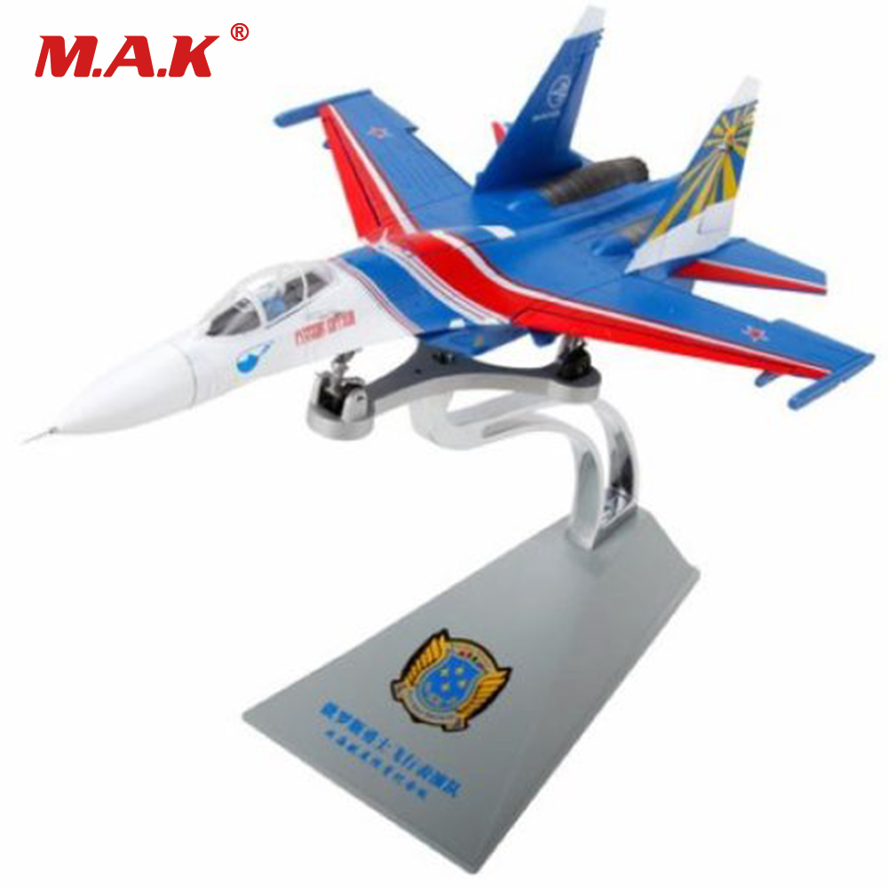 Toys for Ckildren Boys 1/72 Su-27 Heavy Fighter Russia Flag Russian Knights Performance Airplane Model Toy for Kid's Gift
