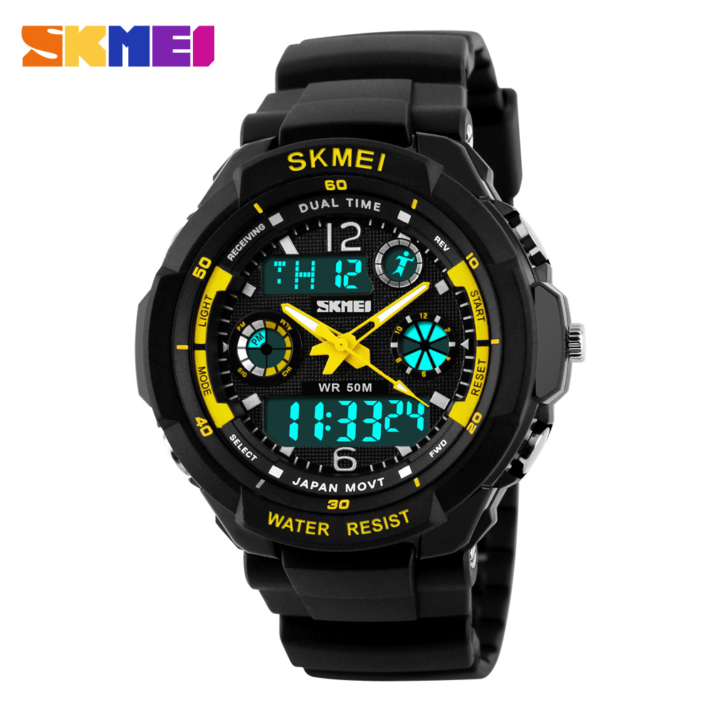 SKMEI Brand Fashion Digital Quartz Watch Men Shock-Resistant Waterproof Sports Military Watches Men's Casual LED Wristwatches