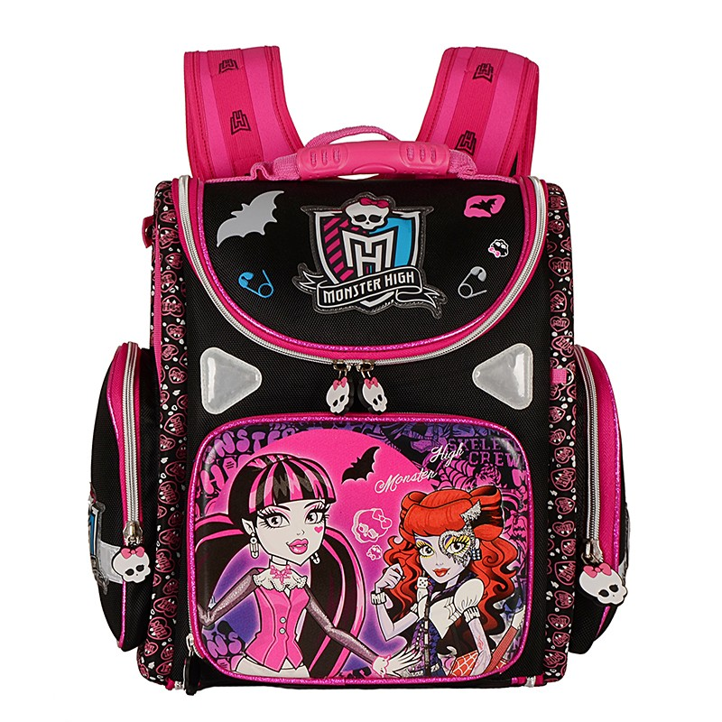 Children School Bags for Girls Monster High Butterfly EVA Waterproof Folded Orthopedic Backpack Primary School Backpacks Mochila kindergarten new kids school backpack monster winx eva folded orthopedic baby school bags for boys and girls mochila infantil